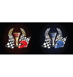 Racing prize grunge vector image