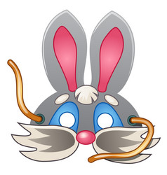 Theatrical rabbit mask carnival masquerade style vector