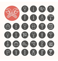 Tools functions Icons set eps10 vector image vector image