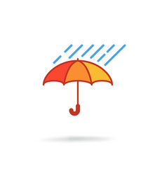 Umbrella with rain vector