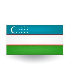 Uzbekistan Flag vector image vector image