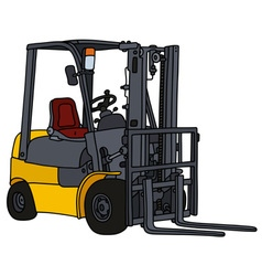 Yellow hydraulicforklifts vector