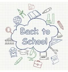 Freehand school vector image