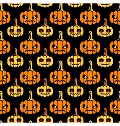 Halloween straight lines pattern with pumpkins vector