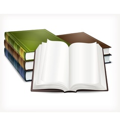 New books open on white vector image