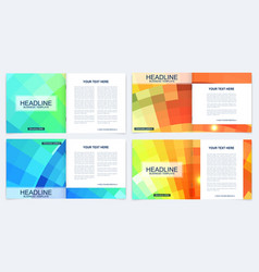 Business brochure design template flyer vector