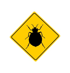 Bed bug warning sign vector