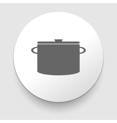 Cooking pan symbol Sign or icon vector image