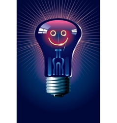 Smiling lamp vector