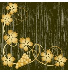Gold grapevine vector