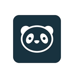 Panda icon rounded squares button vector