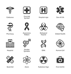 Medical and health care icons - set 1 vector