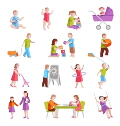 Children Characters Set vector image