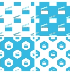 Clapperboard patterns set vector