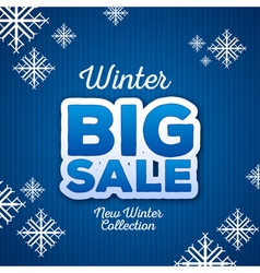 Winter christmas big sale vector