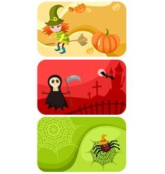 Halloween cards vector