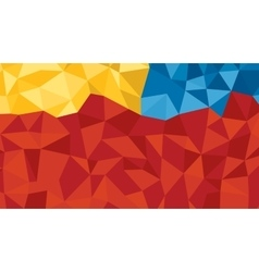 Abstract red blue orange lowploly of many vector image vector image