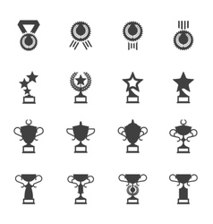 Awards medals and cups icons vector image vector image