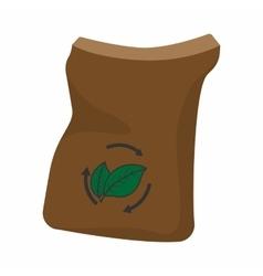 Bag of manure cartoon icon vector
