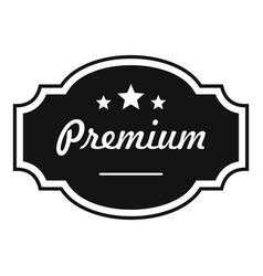 best premium label icon simple style vector image