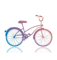 Bicycle retro hipster bike vector