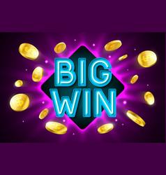 big win banner vector image vector image
