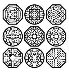 Chinese korean traditional pattern vector image vector image