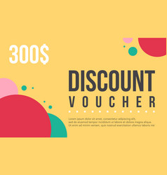 Collection stock gift voucher design vector