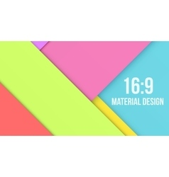 Color Background Unusual modern material design vector image vector image