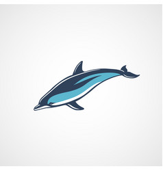 dolphin swim color logo sign isolated vector image vector image