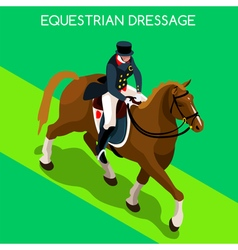 Equestrian dressage 2016 summer games 3d vector