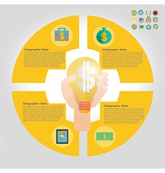 finance infographic element vector image