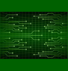 Green abstract cyber future technology concept vector