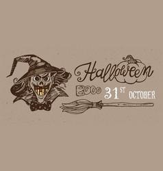 halloween night banner vector image vector image