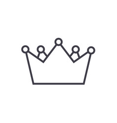 kings crown line icon sign vector image