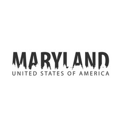 Maryland usa united states of america text or vector