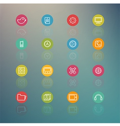 media and Mobile Interface Circle Series on Retina vector image vector image