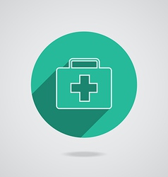 Medical white icon in line vector image vector image