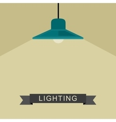 Pendant lamp light vector