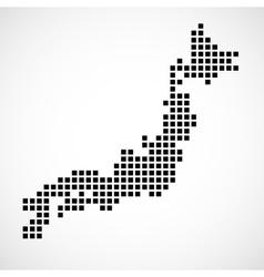 Pixel map of japan vector