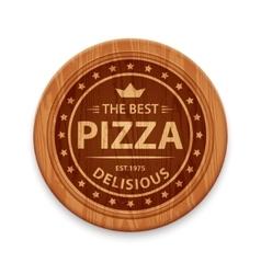 Pizza restaurant label vector