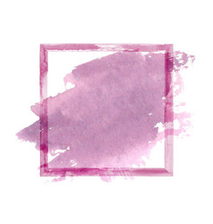 purple pink watercolor grunge frame vector image vector image