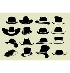 Set of hats vector