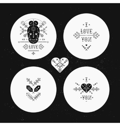 Set of Tribal stickers vector image vector image
