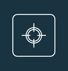 sniper outline symbol premium quality isolated vector image vector image