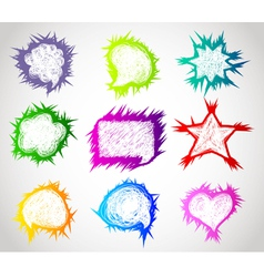 speech bubble abstract vector image vector image