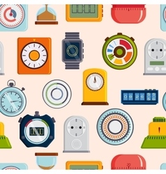 Timer clocks pattern vector