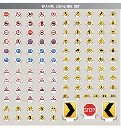 traffic signs big set vector image vector image