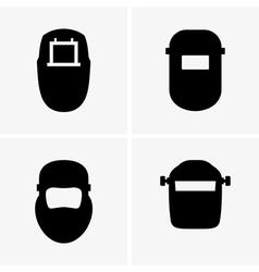 Welding masks vector image vector image