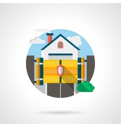 Private residence secure color detail icon vector